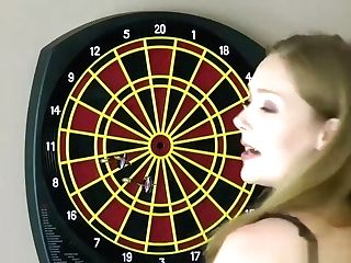 Gorgeous Women Have Fun A Game Of Unwrap Darts, Loser Faces