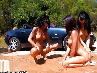 Jordanne Kali & Naty Pink & Nina Roberts In The Last Scene Of The French Adult Movie Star Nina Roberts - Mmm100