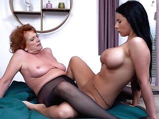 Granny Instructing Hot Dame Girly-girl Fuck-fest