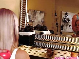 Lesbea Freckled And Blonde Big Natural Tits Lesbos Scissoring