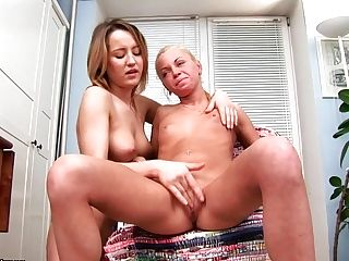 Lesbo Best Friends Have Some Joy At Home