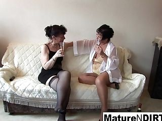 Sexy Lezzy Threesome Activity With Hot Grannies