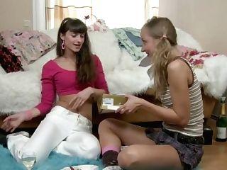 'russian Lovelies Starts Girl/girl Hump Have Fun'