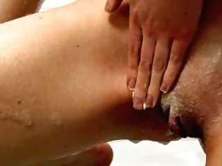 4k Petite Ginger-haired Trims Muff And Then Cums In The Bath