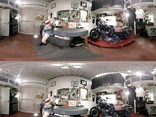 Daisy Ducati & Bella Rossi In Biker Stunners - Lezvr
