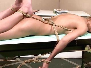 Sweet Coed Tied By Her All Girl Schoolteacher