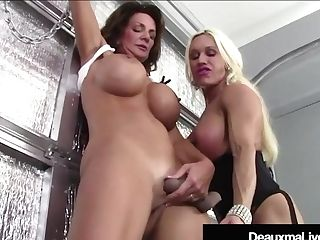Trussed Cougar Deauxma Ordered To Masturbate By Mistress!